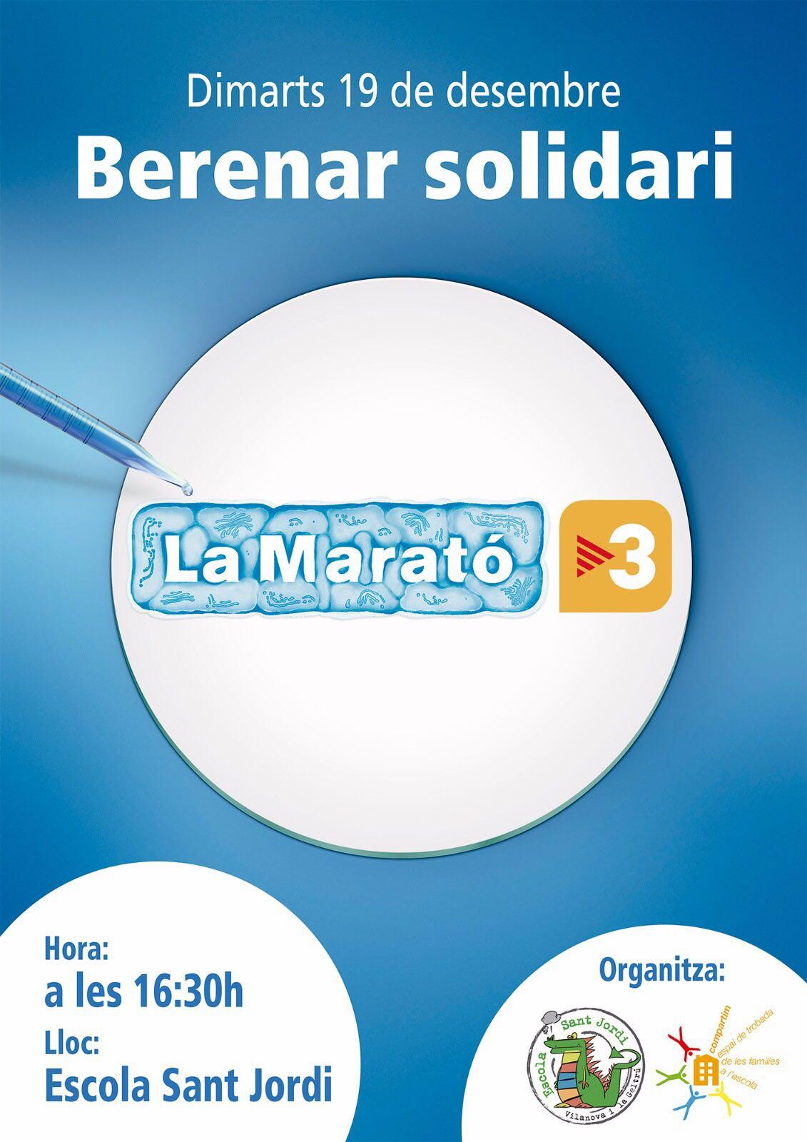 Berenar Solidari per la Marató de TV3